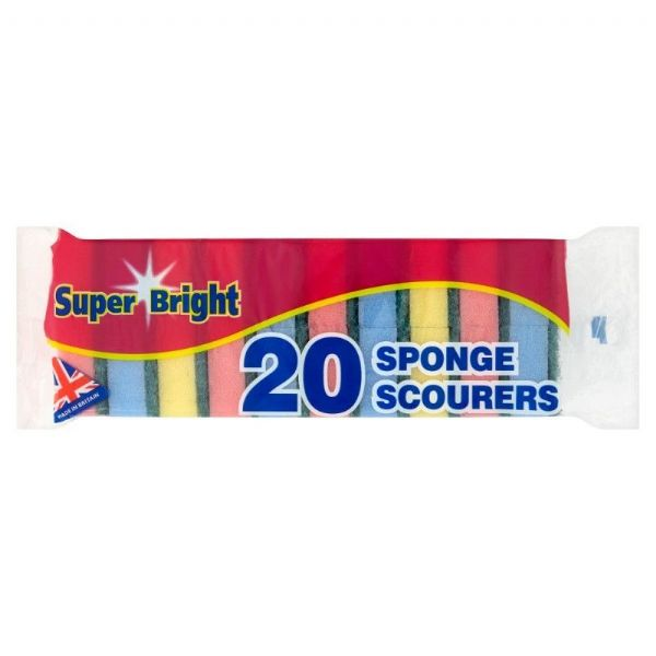Super Bright Sponge Scourers 20pcs